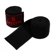 Боксерские бинты полуэластичные Dozen Monochrome Semi-elastic Hand Wraps Black/Red