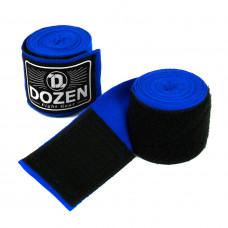 Боксерские бинты полуэластичные Dozen Monochrome Semi-elastic Hand Wraps Blue, 3,75 м