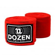 Боксерские бинты эластичные Dozen Monochrome Ultra-elastic Hand Wraps Red, 2,75 м