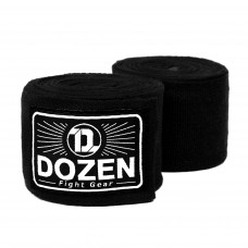 Боксерские бинты эластичные Dozen Monochrome Ultra-elastic Hand Wraps Black, 2,75 м