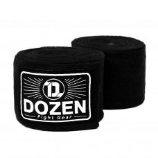 Боксерские бинты эластичные Dozen Monochrome Ultra-elastic Hand Wraps Black, 3,75 м