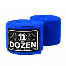 Боксерские бинты эластичные Dozen Monochrome Ultra-elastic Hand Wraps Blue, 3,75 м