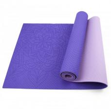 Коврик (мат) для йоги и фитнеса Sportcraft TPE 6 мм ES0028 Purple/Pink