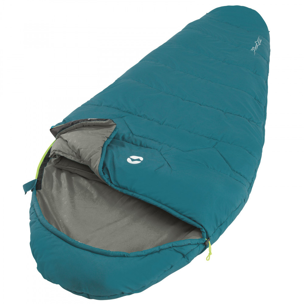 Спальний мішок Outwell Pine Prime/-1°C Turquoise Left (230345)