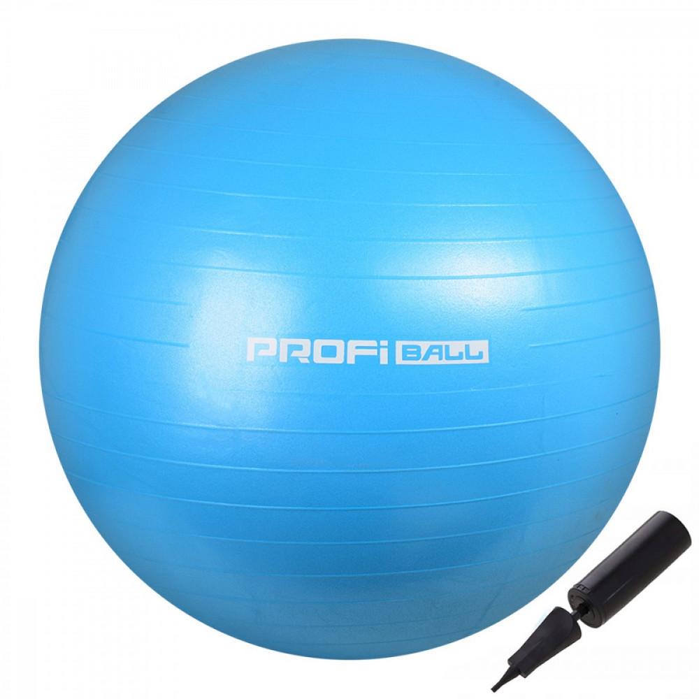 М'яч для фітнесу (фітбол) Profi 65 см M-0276-2 Sky Blue