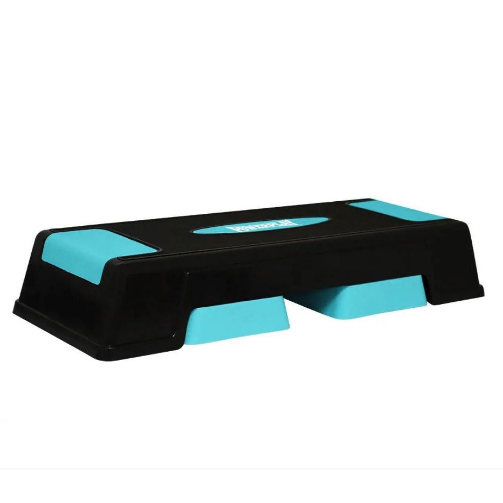 Cтеп-платформа PowerPlay 4329 (3 рівні 12-17-22 см) Чорно-блакитна