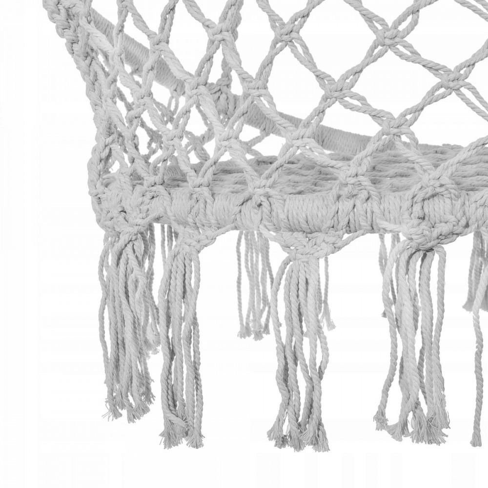 Подвесное кресло-качели (плетеное) Springos SPR0011 Grey