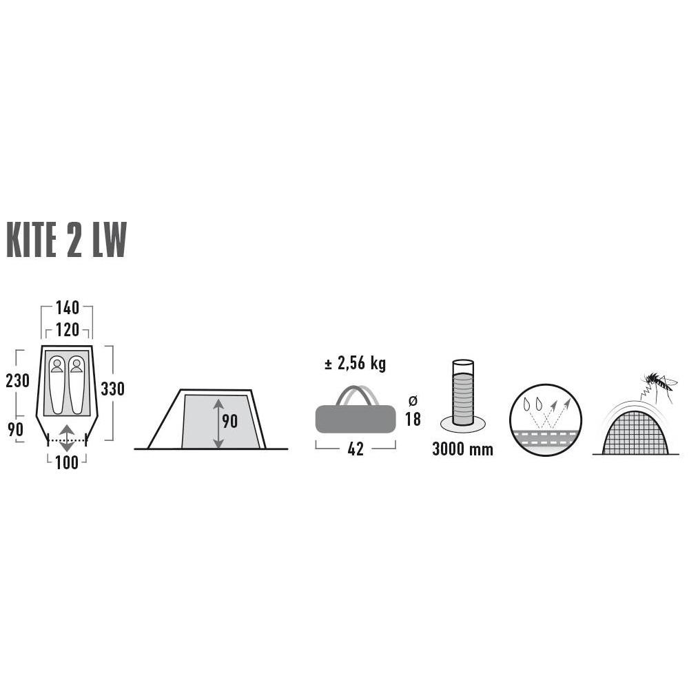 Палатка High Peak Kite 2 LW Pesto/Red (10343)