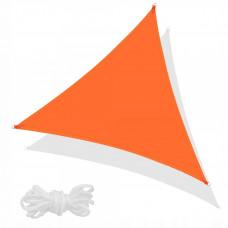 Тент-парус теневой для дома, сада и туризма Springos 5 x 5 x 5 м SN0015 Orange