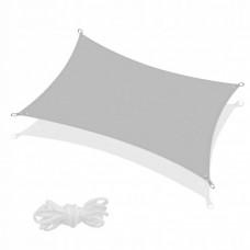 Тент-парус тіньовий для дому, саду та туризму Springos 4 x 2 м SN1047 Grey