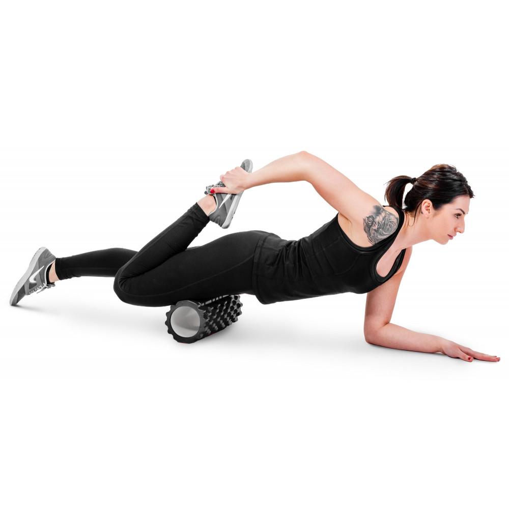 Роллер для кросфіту та йоги HS-001YG Чорний