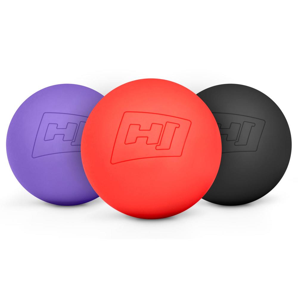 Силіконовий масажний мяч 63 мм HS-S063MB Чорний