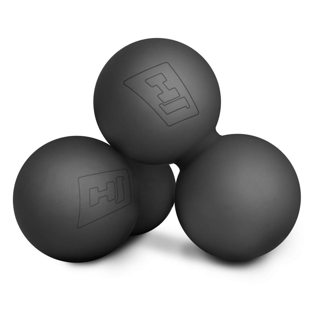 Силиконовый массажный двойной мяч 63 мм HS-S063DMB Черный