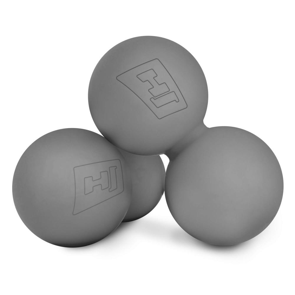 Силіконовий масажний подвійний мяч 63 мм HS-S063DMB Сірий