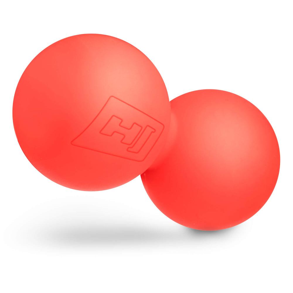Силіконовий масажний подвійний мяч 63 мм HS-S063DMB Червоний
