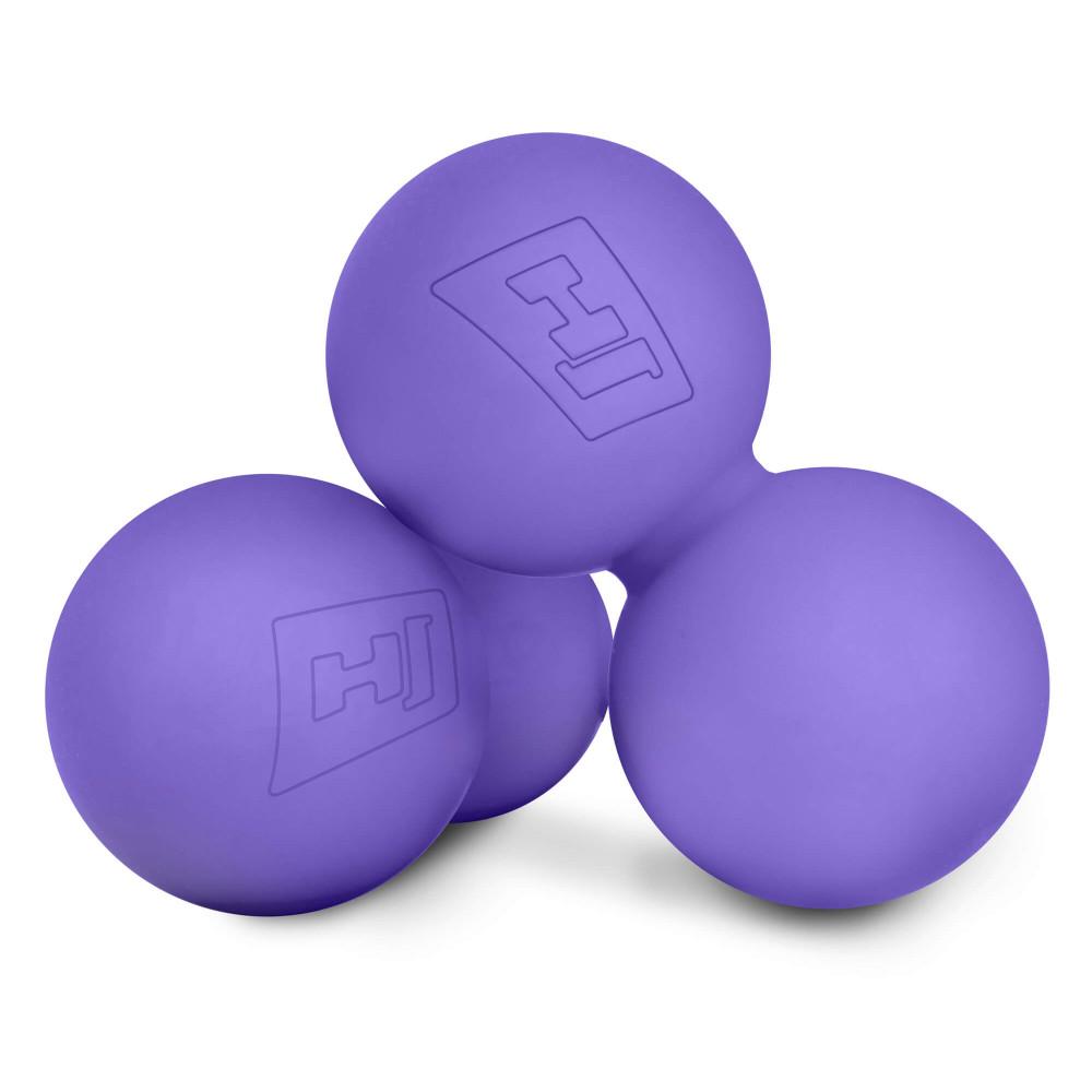 Силиконовый массажный двойной мяч 63 мм HS-S063DMB Фиолетовый