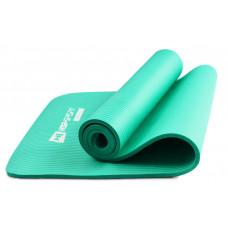 Мат для фітнесу та йоги 1 см HS-N010GM Бірюзовий