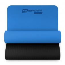Килимок для фітнесу TPE 0,6 см HS-T006GM Синій