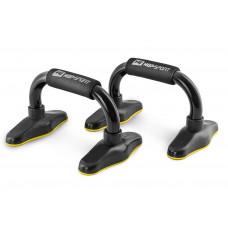 Упоры для отжиманий металлические HS-M020PU Черный/желтый