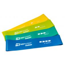 Набір резинок для фітнесу 500x50 мм HS-L550RL 4-х кольоровий