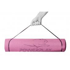 Килимок для йоги та фітнесу PowerPlay 4010 (173*61*0.6) рожевий