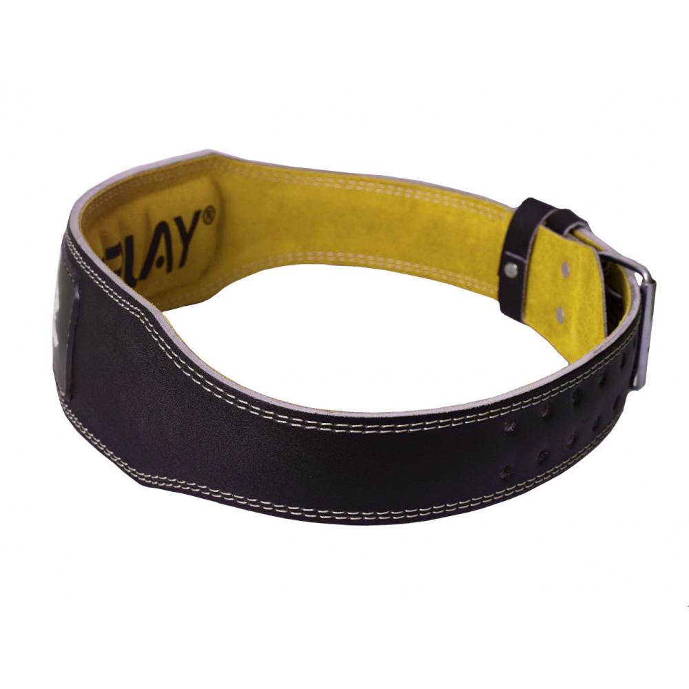 Пояс для тяжелой атлетики PowerPlay 5085 черно-желтый S