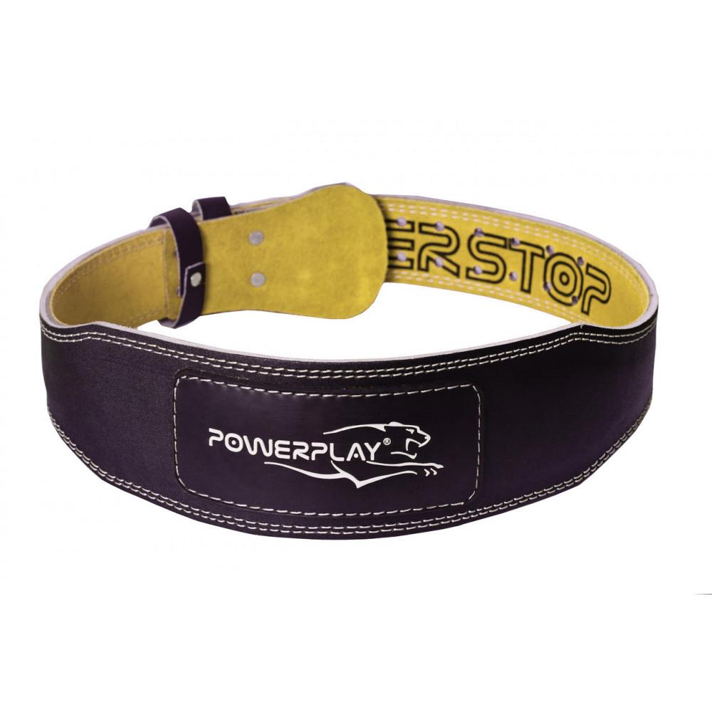 Пояс для тяжелой атлетики PowerPlay 5085 черно-желтый XL