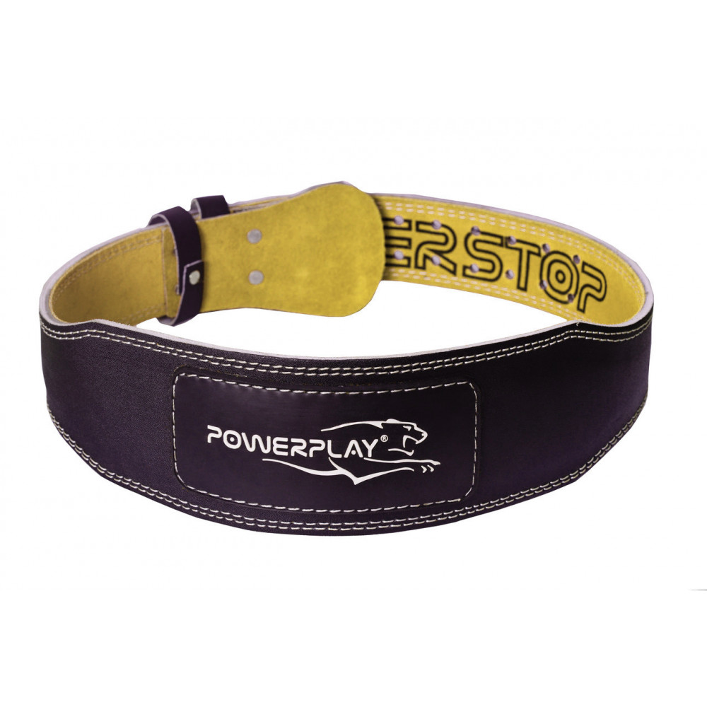 Пояс для тяжелой атлетики PowerPlay 5085 черно-желтый XS