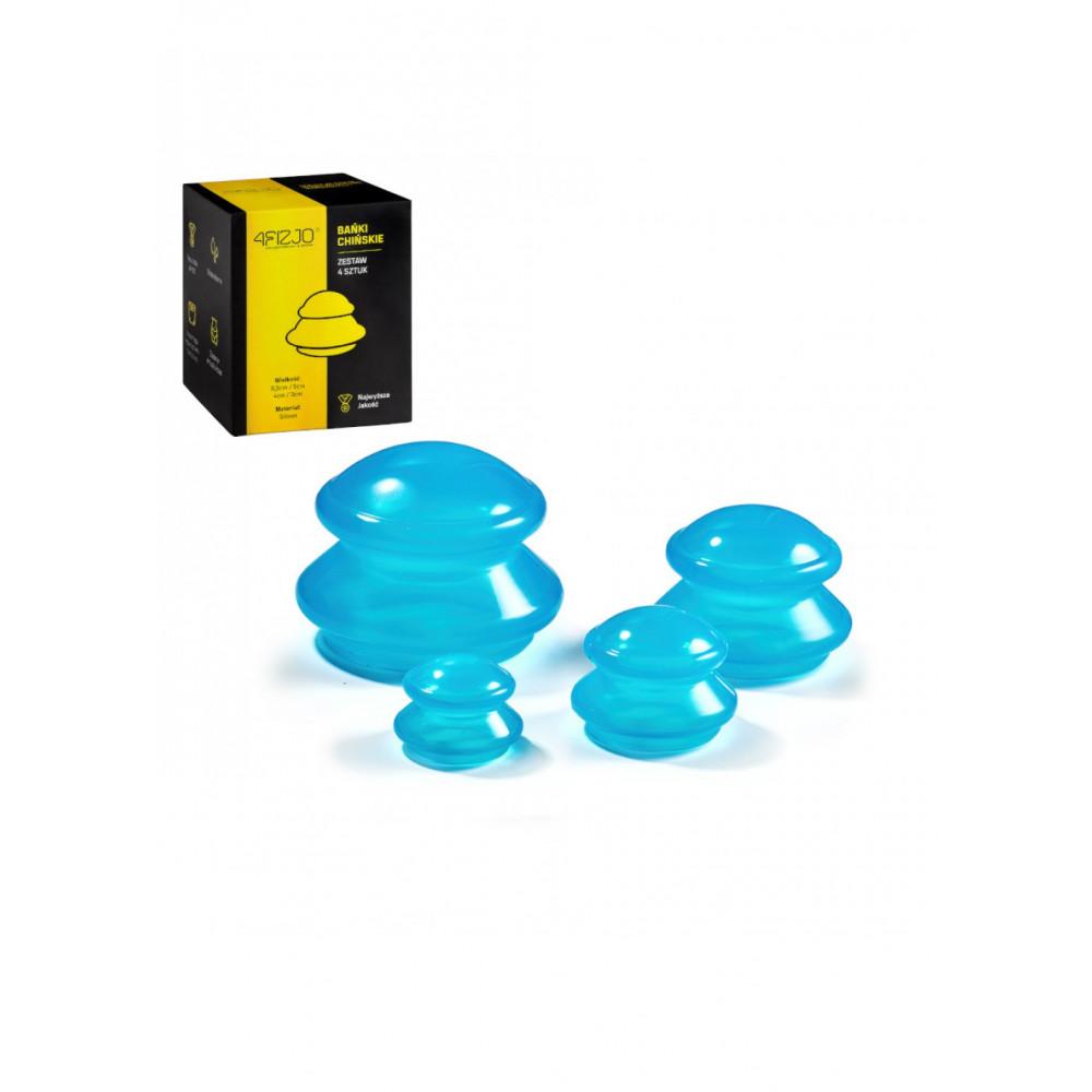 Вакуумные массажные банки 4FIZJO силиконовые для тела (китайские/антицеллюлитные банки) 4 шт 4FJ0234