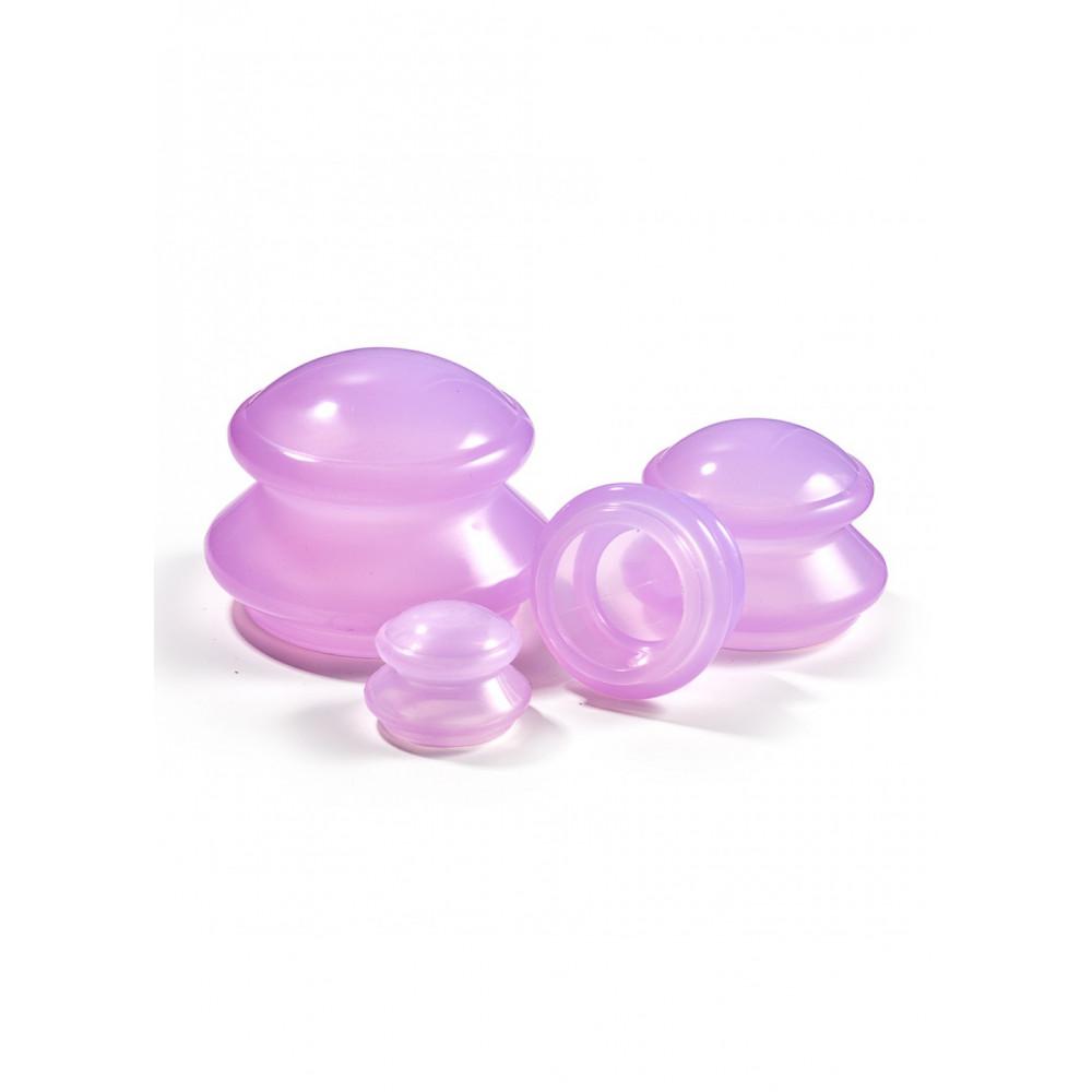 Вакуумные массажные банки 4FIZJO силиконовые для тела (китайские/антицеллюлитные банки) 4 шт 4FJ0235