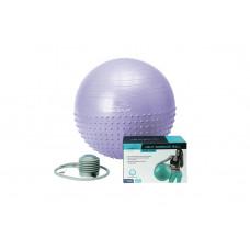 М'яч для фітнесу PowerPlay 4003 75см Sky Blue + насос