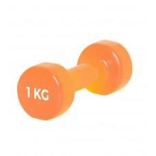 Гантель PowerPlay 4125 вінілова 1 кг