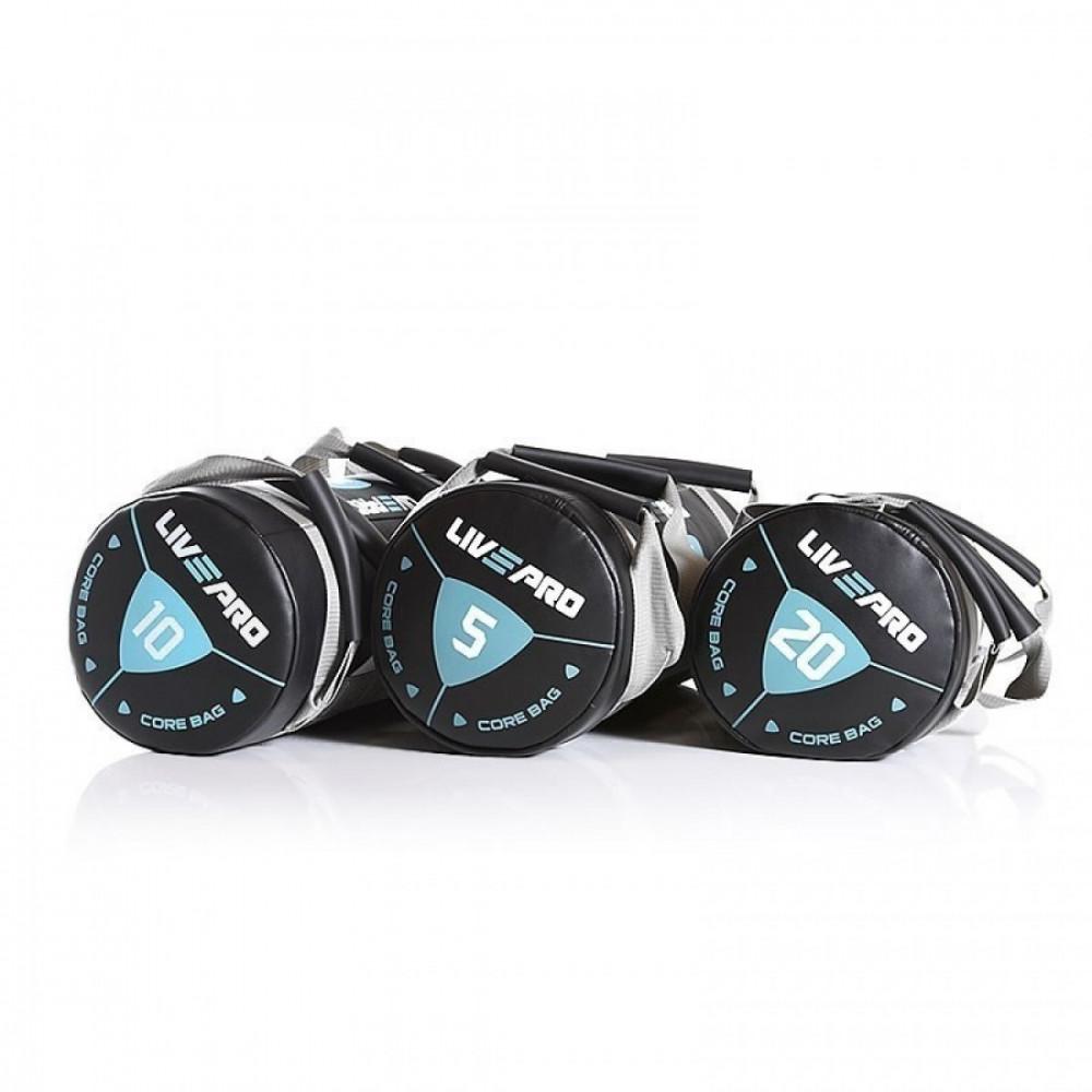 Мішок для кроссфіта LivePro POWER BAG чорний / сірий, 15 кг