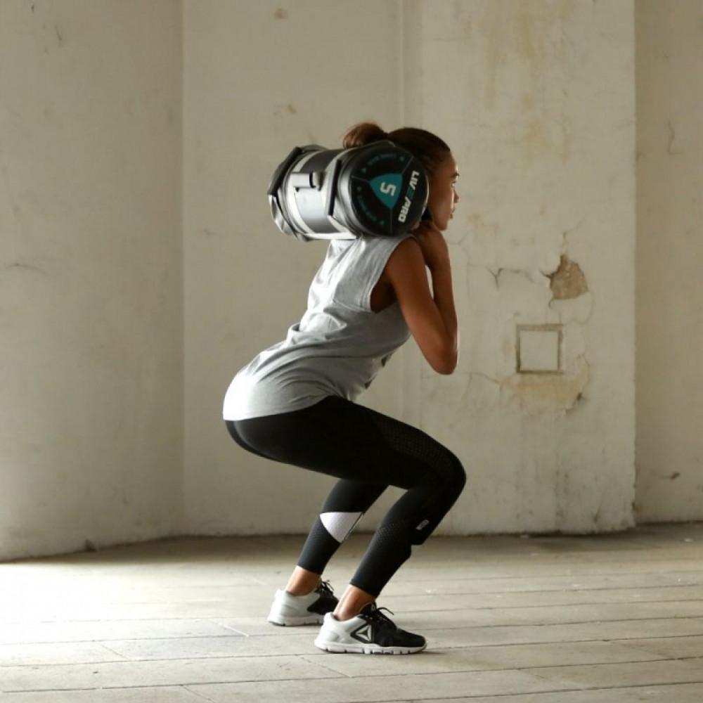 Мішок для кроссфіта LivePro POWER BAG чорний / сірий, 20 кг