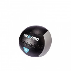 Мяч для кроcсфита LivePro WALL BALL черный/серый, 5 кг