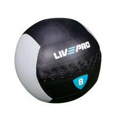 Мяч для кроcсфита LivePro WALL BALL черный/серый, 8 кг