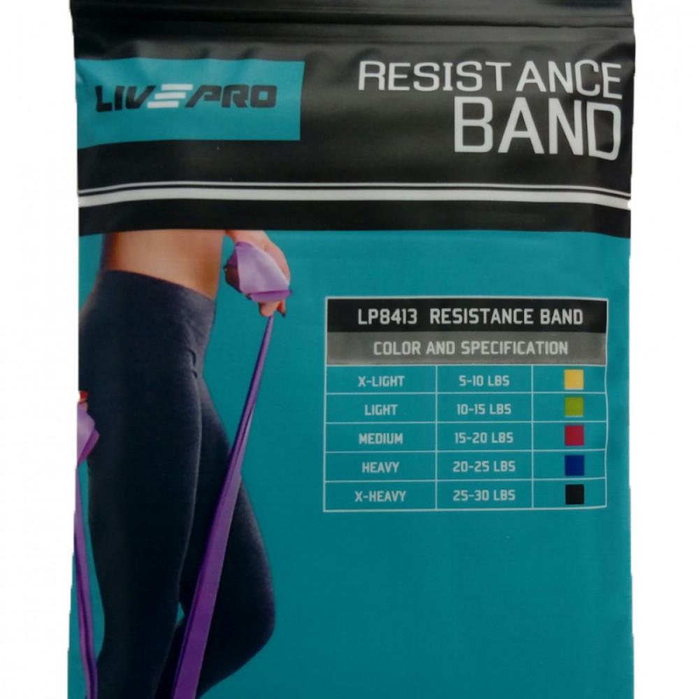 Еспандер-стрічка LivePro RESISTANCE BAND X-Heavy чорний