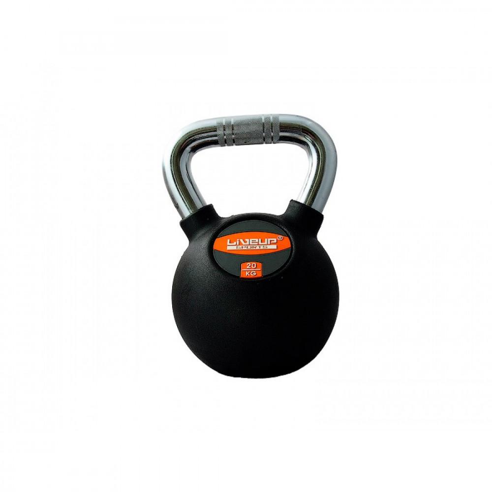 Гиря в гумовій оболонці LiveUp RUBBER KETTEL BELL, 20 кг, LS2044-20