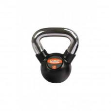 Гиря в резиновой оболочке LiveUp RUBBER KETTEL BELL, 4 кг, LS2044-4