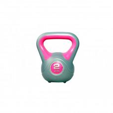 Гиря пластиковая насыпная LiveUp PLASTIC KETTEL BELL, 2 кг, LS2047-2
