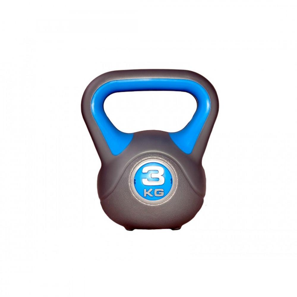 Гиря пластикова насипна LiveUp PLASTIC KETTEL BELL, 3 кг, LS2047-3