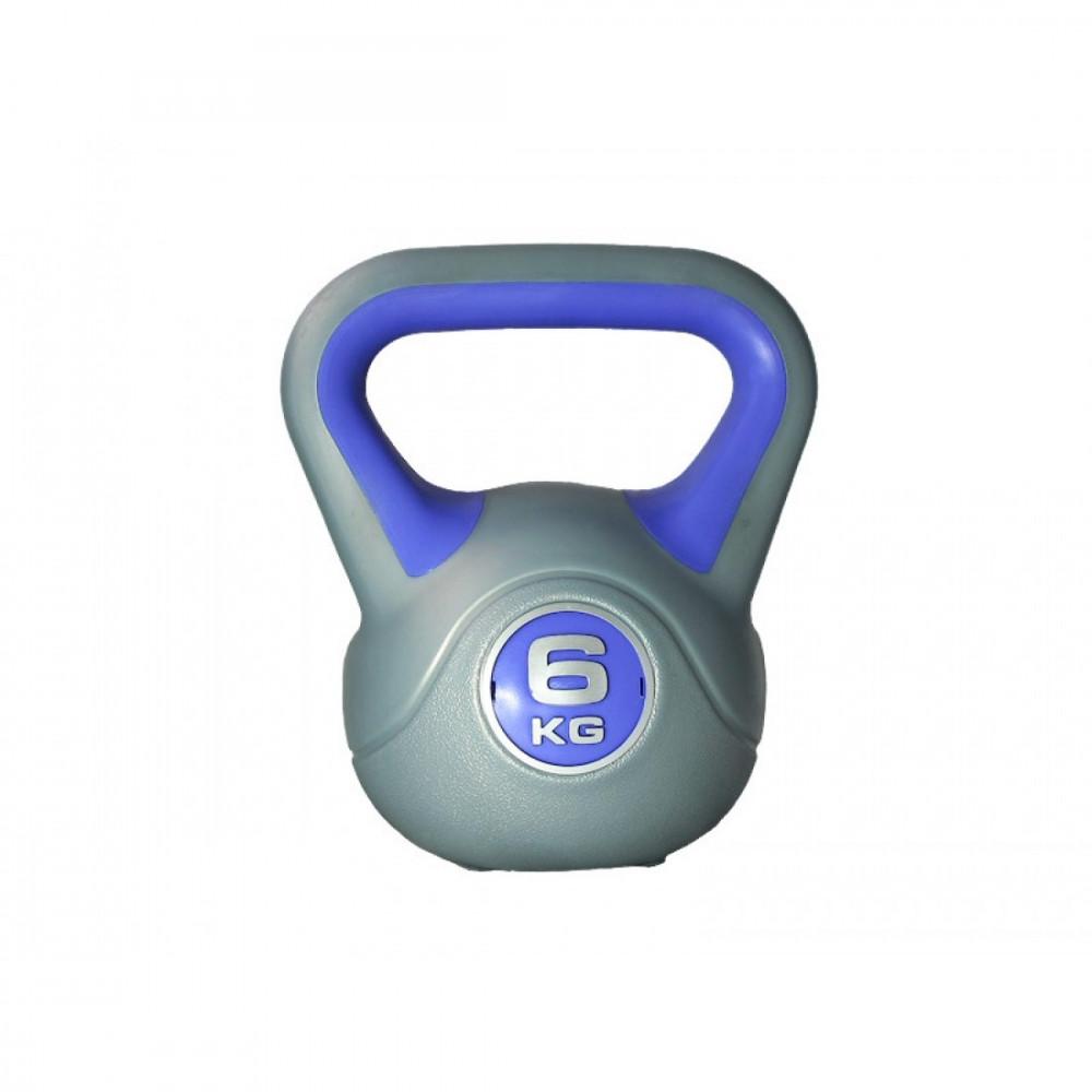 Гиря пластиковая насыпная LiveUp PLASTIC KETTEL BELL, 6 кг, LS2047-6