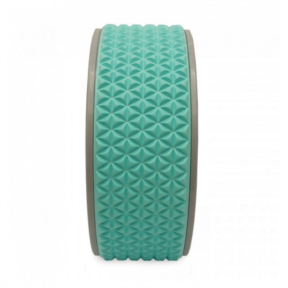 Колесо для йоги та фітнесу LiveUp YOGA RING блакитний