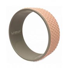 Колесо для йоги и фитнеса LiveUp YOGA RING розовый