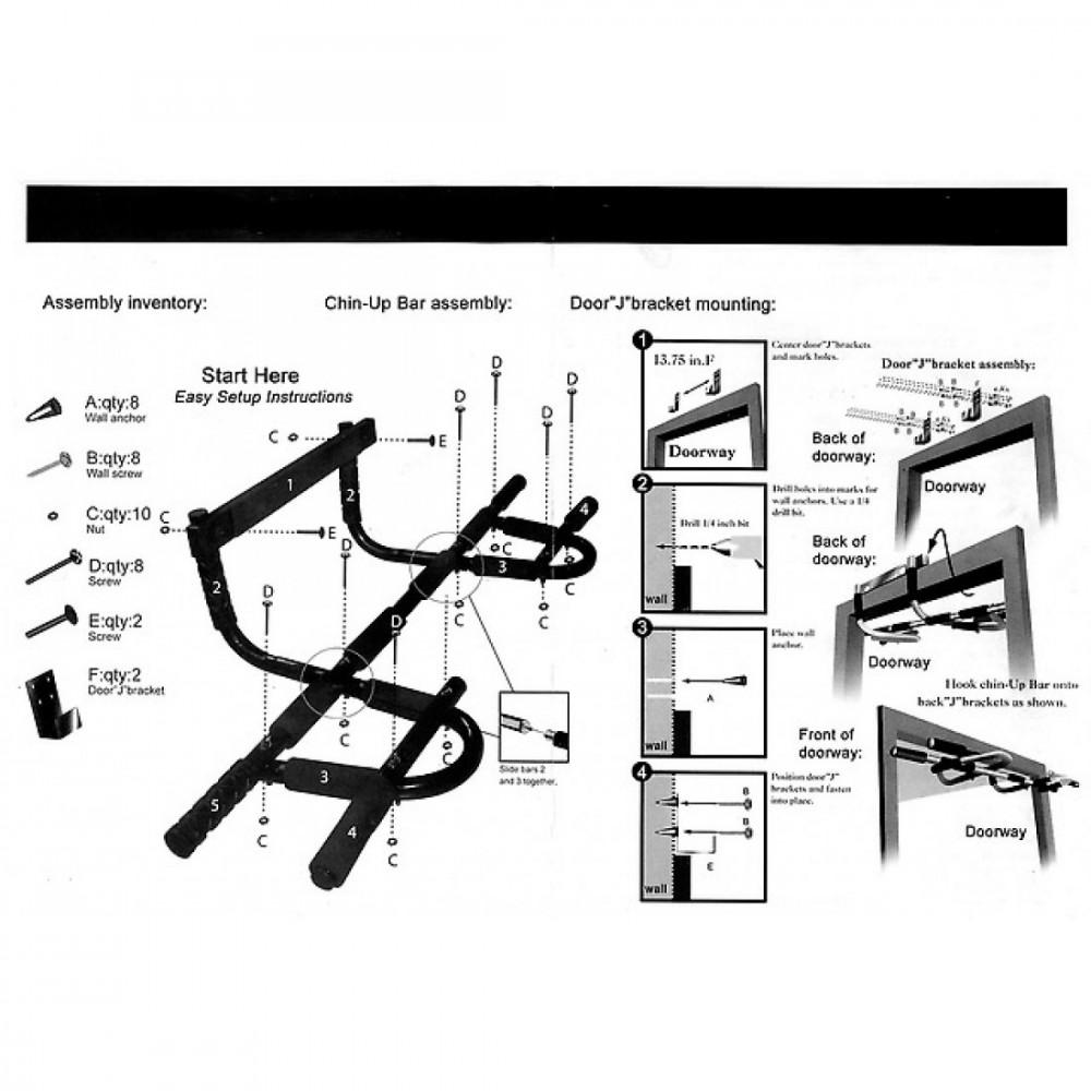 Тренажер для підтягувань і преса LiveUp CHIN-UP BAR, LS3153A