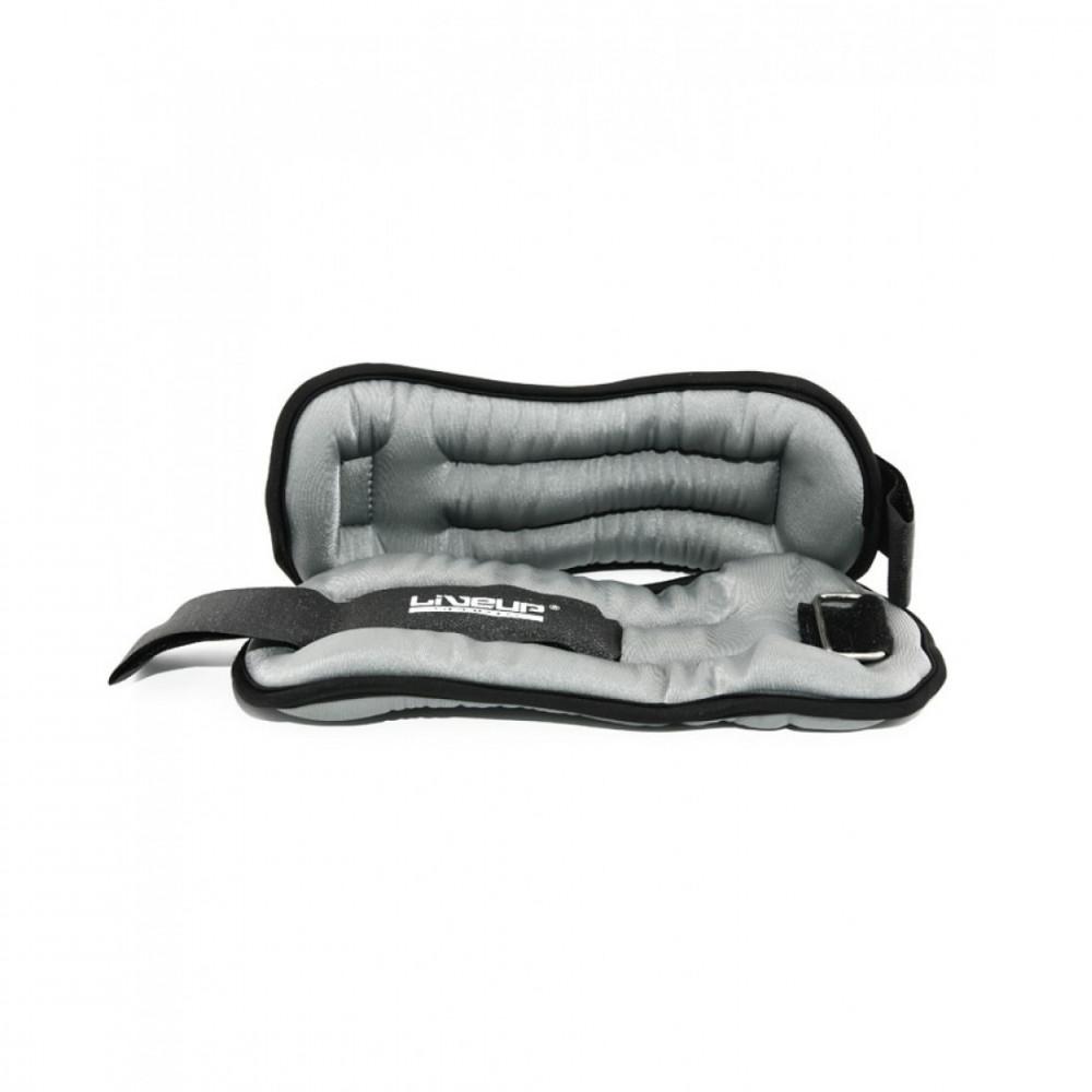 Обважнювачі для рук/ніг 2х1 кг сір. LS3049-1 WRIST