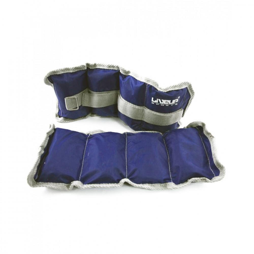 Обтяження зап'ястя/щиколотки LiveUp WRIST/ANKLE WEIGHT, 2х1 кг, LS3011-1