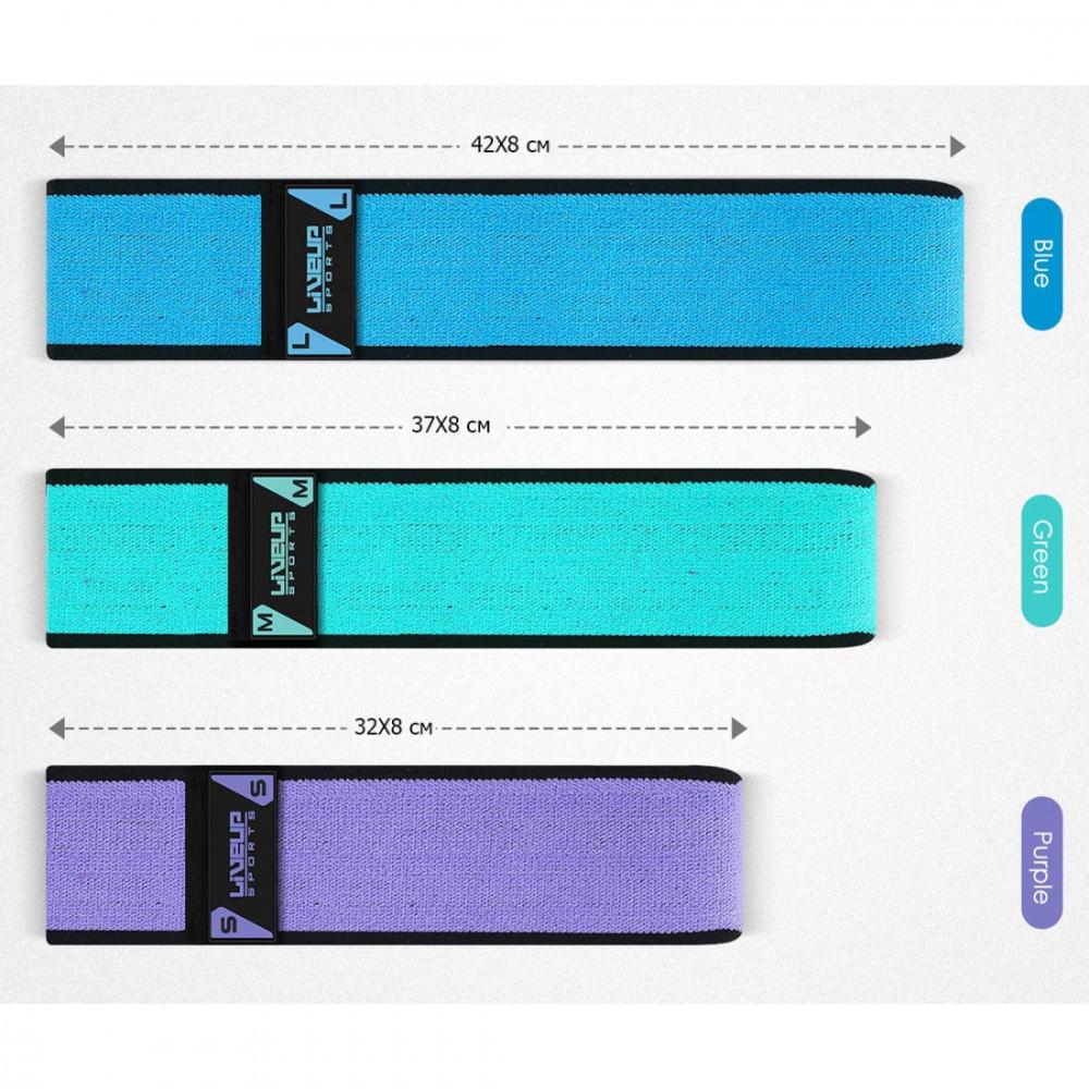 Еспандер для пілатесу LiveUp HIP BAND фіолетовий