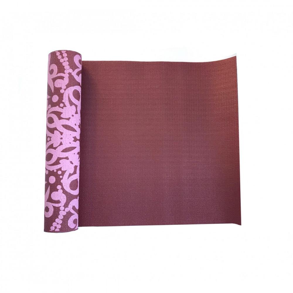 Йога-килимок LiveUP PVC PRINTED YOGA MAT червоний