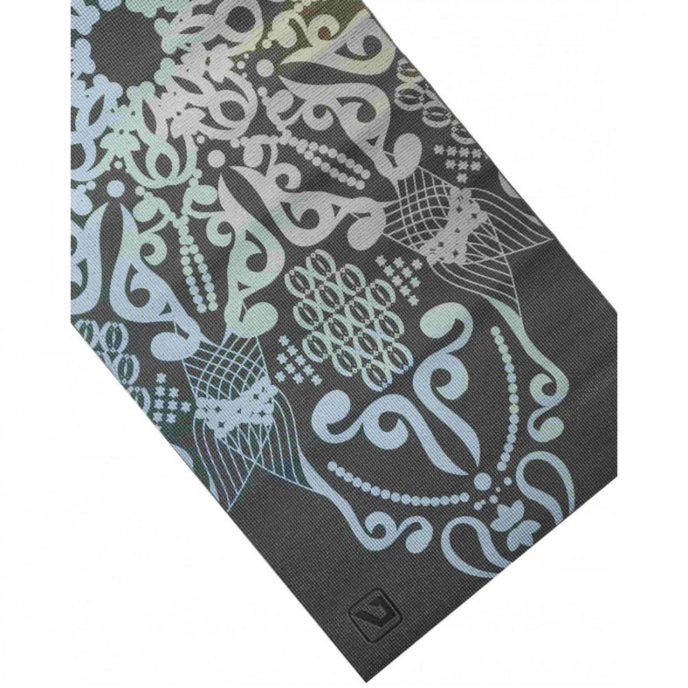 Йога-коврик LiveUP PVC PRINTED YOGA MAT серый, 4мм